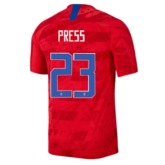 USA Away Christen Press 2019/2020 Men's Stadium Soccer Jersey