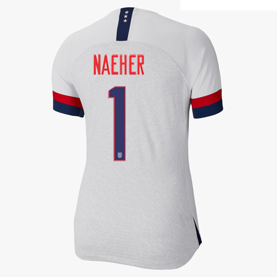 USA Home Alyssa Naeher 2019/20 Women's Stadium Jersey 4-Star
