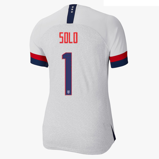 USA Home Hope Solo 2019 Women's Stadium Jersey 4 Star