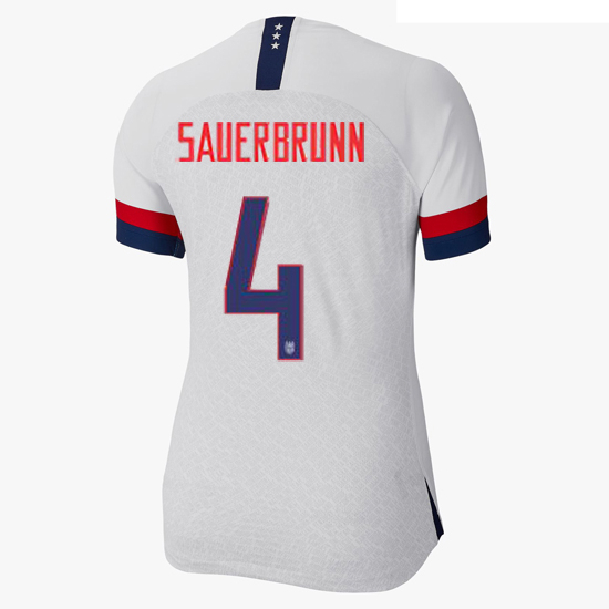 USA Home Becky Sauerbrunn 2019 Women's Stadium Jersey 4-Star