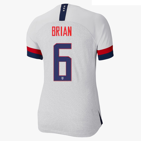 USA Home Morgan Brian 2019/2020 Women's Stadium Jersey 4-Star
