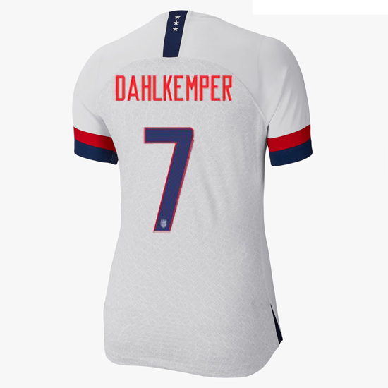 USA Home Abby Dahlkemper 2019/20 Women's Stadium Jersey 4 Star