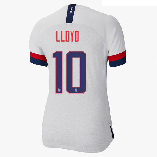 USA Home Carli Lloyd 2019/20 Women's Stadium Jersey 4 Star