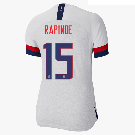 USA Home Megan Rapinoe 2019/2020 Women's Stadium Jersey 4-Star