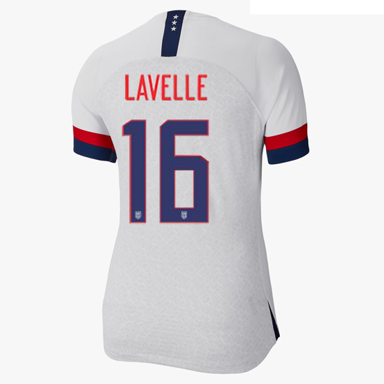 USA Home Rose Lavelle 2019/20 Women's Stadium Jersey 4 Star