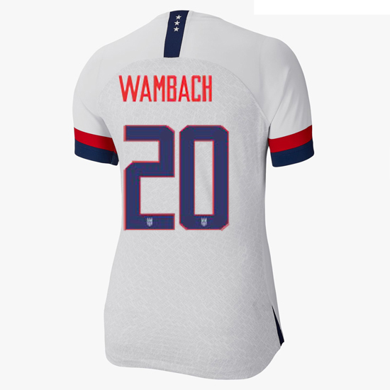 USA Home Abby Wambach 2019/2020 Women's Stadium Jersey 4-Star