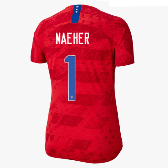 USA Away Alyssa Naeher 2019/2020 Women's Stadium Jersey 4 Star