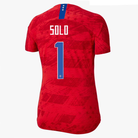 USA Away Hope Solo 2019/20 Women's Stadium Jersey 4-Star