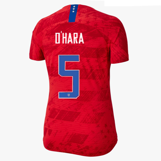 USA Away Kelley O'Hara 2019 Women's Stadium Jersey 4-Star