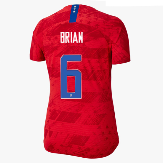 USA Away Morgan Brian 19/20 Women's Stadium Jersey 4 Star