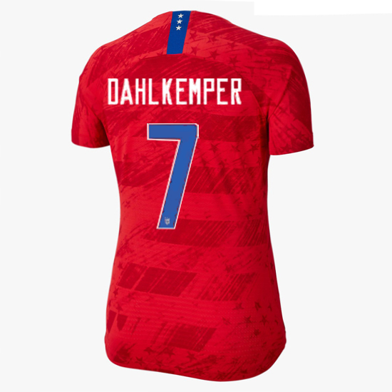 USA Away Abby Dahlkemper 2019/2020 Women's Stadium Jersey 4-Star
