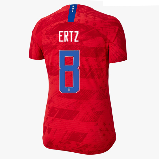 USA Away Julie Ertz 2019/20 Women's Stadium Jersey 4 Star