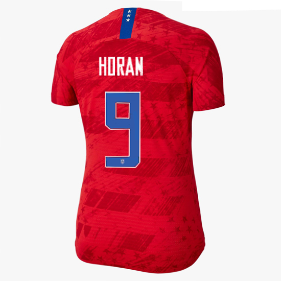 USA Away Lindsey Horan 2019 Women's Stadium Jersey 4-Star