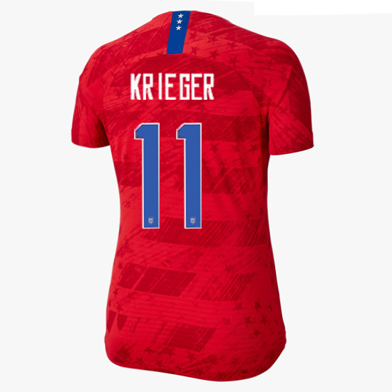 USA Away Ali Krieger 2019/20 Women's Stadium Jersey 4 Star