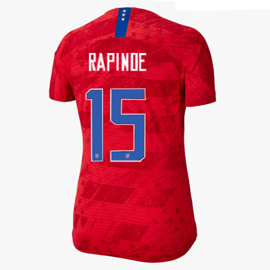 USA Away Megan Rapinoe 19/20 Women's Stadium Jersey 4 Star