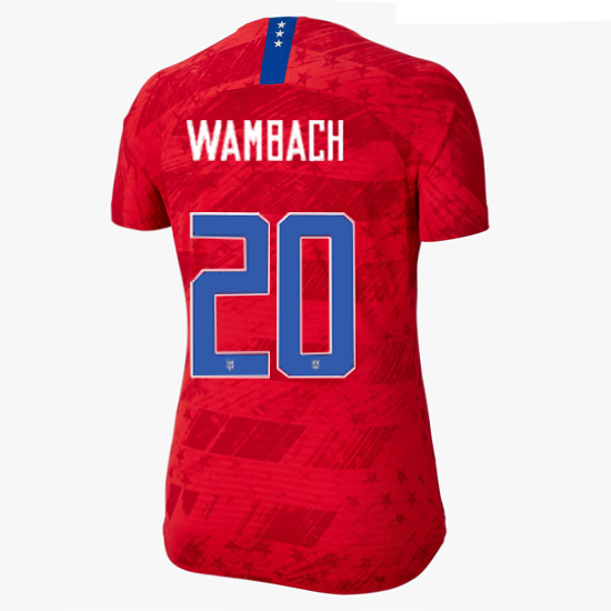 USA Away Abby Wambach 19/20 Women's Stadium Jersey 4 Star