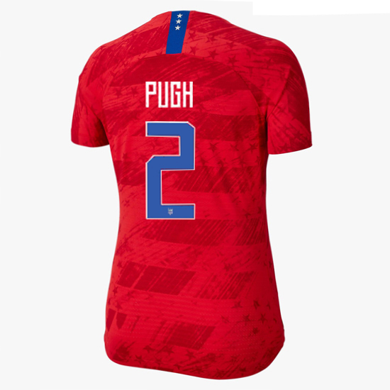 USA Away Mallory Pugh 2019/20 Women's Stadium Jersey 4 Star