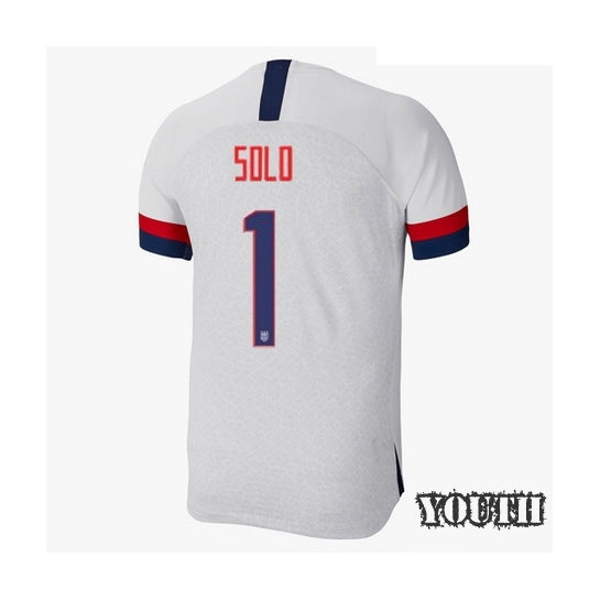 USA Home Hope Solo 2019/2020 Youth Stadium Soccer Jersey