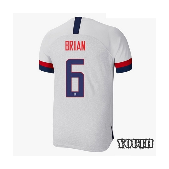USA Home Morgan Brian 2019 Youth Stadium Soccer Jersey