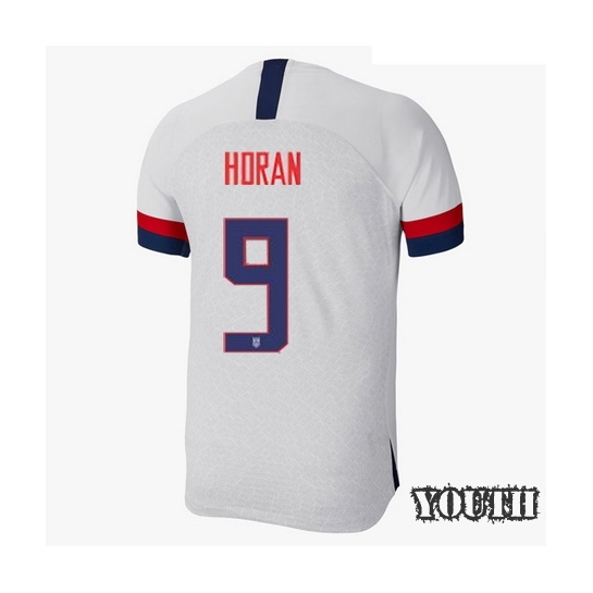 USA Home Lindsey Horan 2019/20 Youth Stadium Soccer Jersey