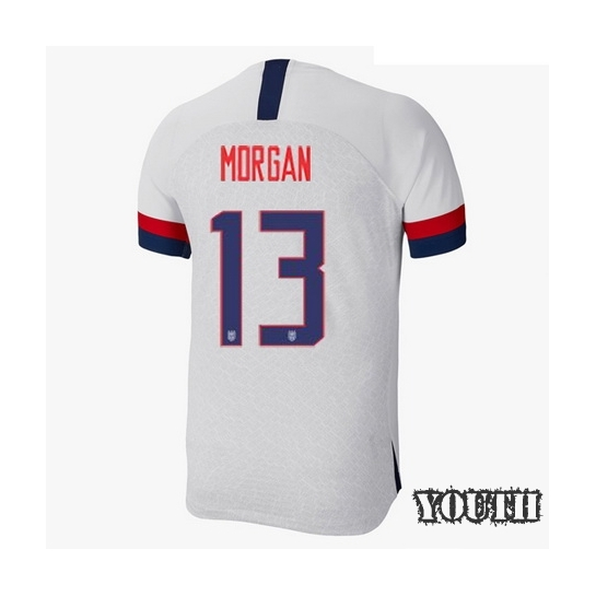USA Home Alex Morgan 2019/20 Youth Stadium Soccer Jersey