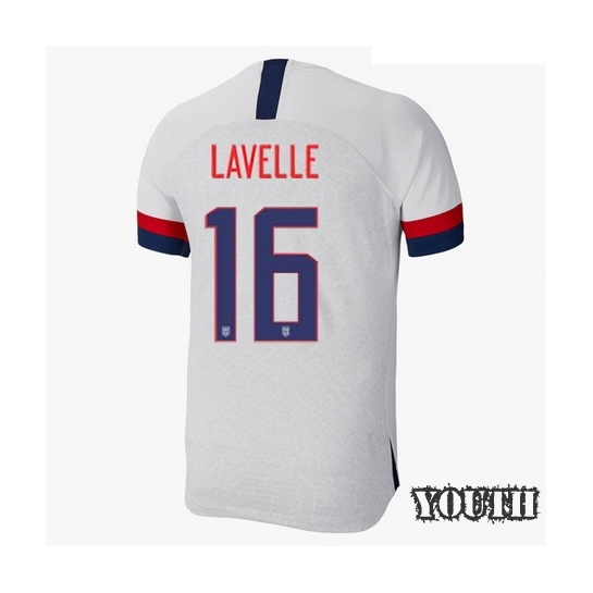USA Home Rose Lavelle 19/20 Youth Stadium Soccer Jersey