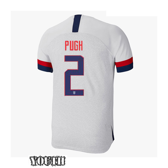 USA Home Mallory Pugh 2019/2020 Youth Stadium Soccer Jersey