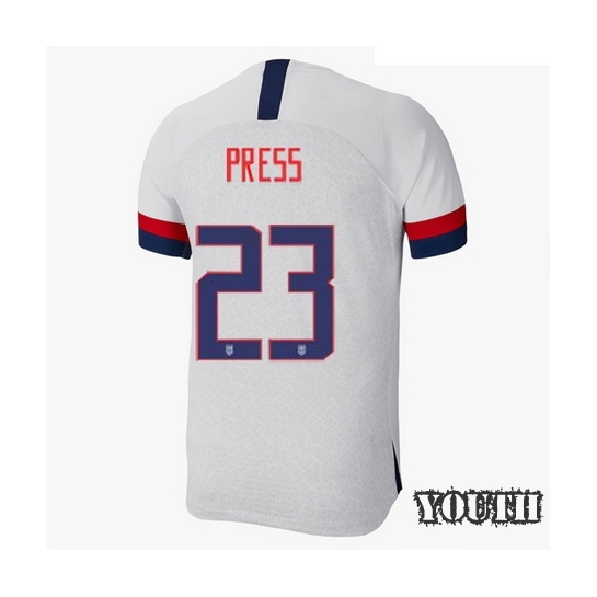 USA Home Christen Press 2019/20 Youth Stadium Soccer Jersey