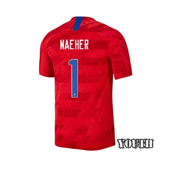 USA Away Alyssa Naeher 2019 Youth Stadium Soccer Jersey