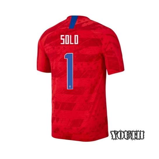 USA Away Hope Solo 19/20 Youth Stadium Soccer Jersey