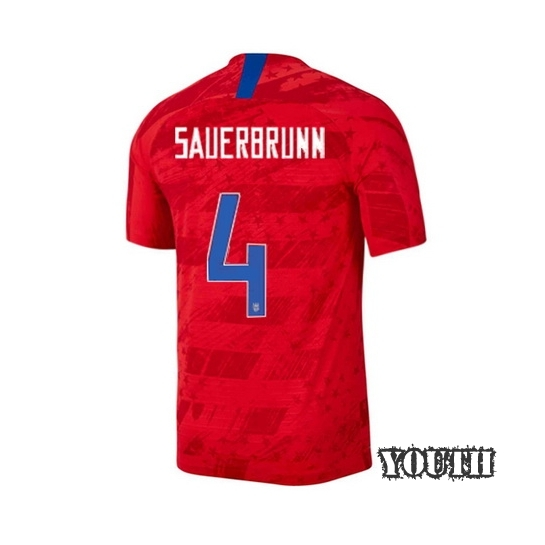 USA Away Becky Sauerbrunn 2019 Youth Stadium Soccer Jersey