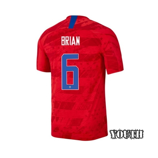 USA Away Morgan Brian 2019/20 Youth Stadium Soccer Jersey