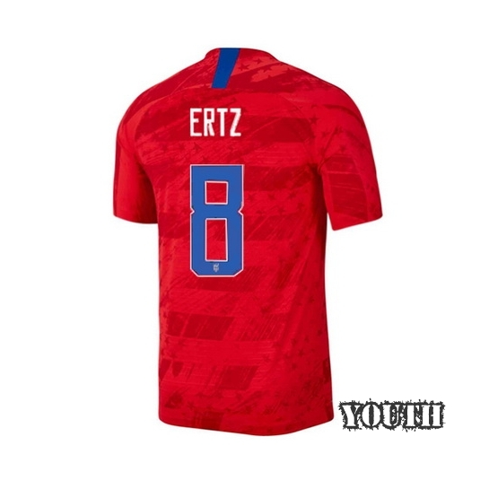 USA Away Julie Ertz 19/20 Youth Stadium Soccer Jersey