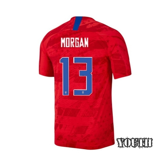 USA Away Alex Morgan 2019/2020 Youth Stadium Soccer Jersey