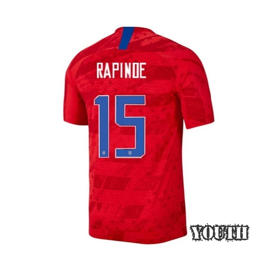 USA Away Megan Rapinoe 2019/20 Youth Stadium Soccer Jersey