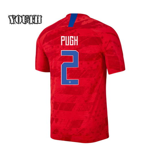 USA Away Mallory Pugh 19/20 Youth Stadium Soccer Jersey
