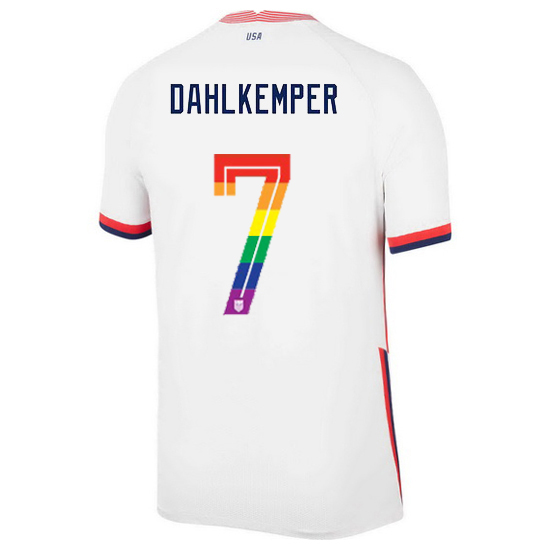 USA Home Abby Dahlkemper 2020/21 Men's Stadium PRIDE Jersey