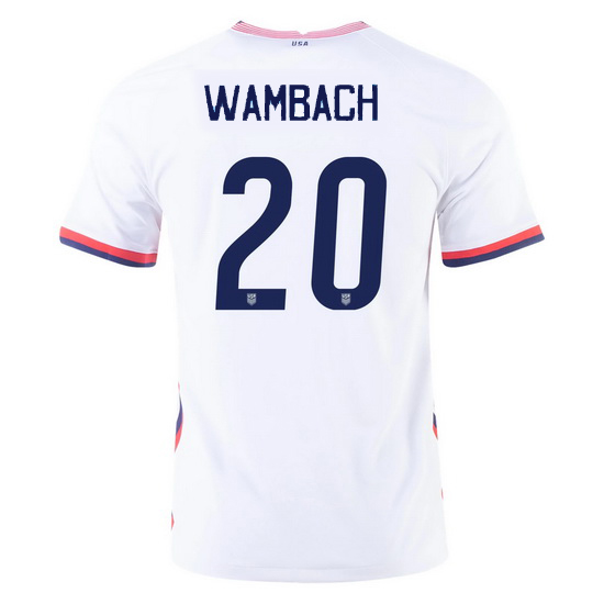 USA White Abby Wambach 2020 Men's Stadium Soccer Jersey