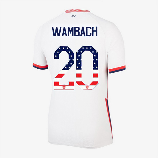 White Abby Wambach 2020 Women's Stadium Jersey Independence Day