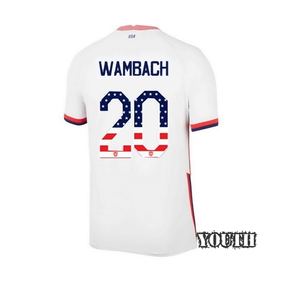 Home Abby Wambach 2020/21 Youth Stadium Jersey Independence Day