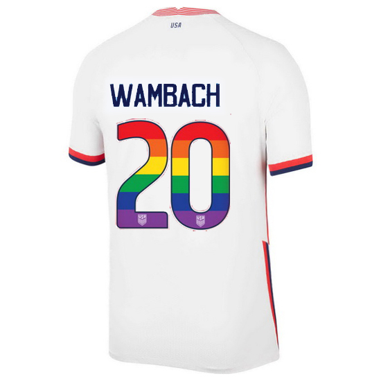 White Abby Wambach 2020/2021 Men's Stadium Rainbow Number Jersey