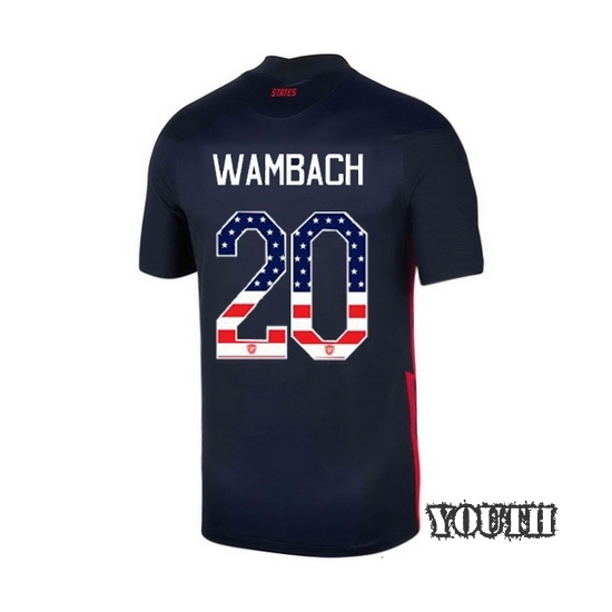 Away Abby Wambach 2020/21 Youth Stadium Jersey Independence Day