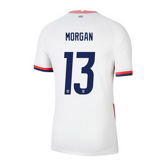 USA White Alex Morgan 2020/2021 Youth Stadium Soccer Jersey