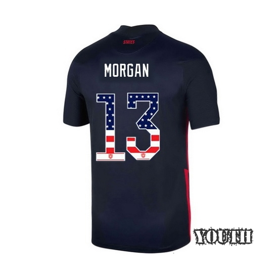 Away Alex Morgan 2020/21 Youth Stadium Jersey Independence Day