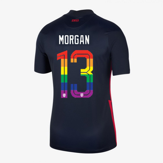 USA Navy Alex Morgan 2020/2021 Women's Stadium PRIDE Jersey