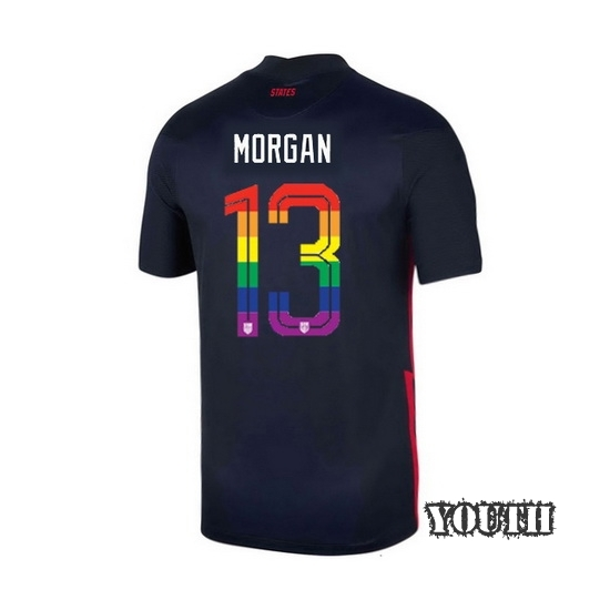 USA Away Alex Morgan 20/21 Youth Stadium PRIDE Jersey