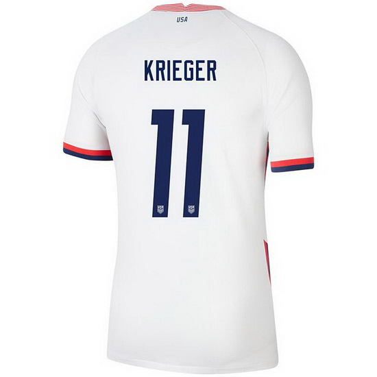 USA White Ali Krieger 2020 Men's Stadium Soccer Jersey
