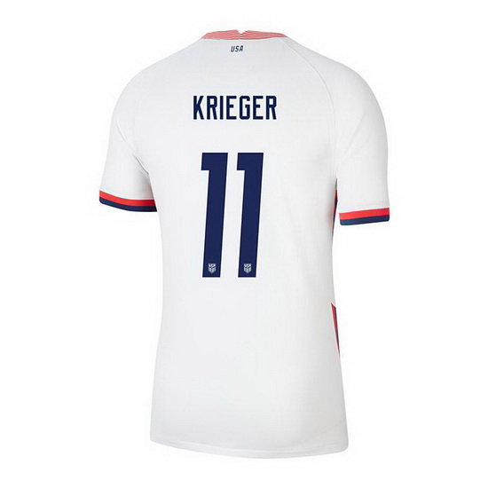 USA White Ali Krieger 2020/2021 Youth Stadium Soccer Jersey
