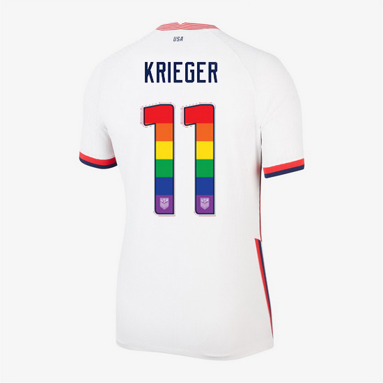 Home Ali Krieger 20/21 Women's Stadium Rainbow Number Jersey