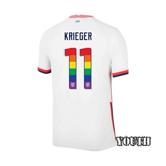 White Ali Krieger 2020 Youth Stadium Rainbow Number Jersey